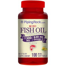 Mini Omega-3 Fish Oil 1300 мг 100 Softgels