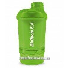 Шейкер Wave + Nano Shaker 300 мл ( + 150 мл ) Grass Green